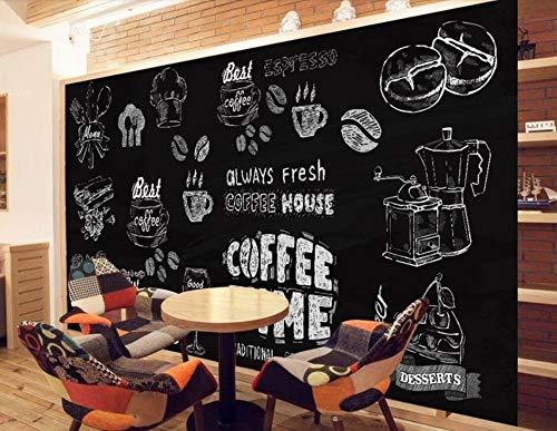 ZYLBDNB Persönlichkeits-Malur, Custom Wallpaper 3D Mural europäischen Stil Hand-Painted Coffee Dessert Background Wall Papers Home Decor,300X250CM Hand Painted Dessert