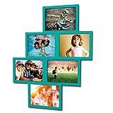 Artepoint Fotogalerie für 6 Fotos 13x18 cm - 3D 603 Optik - Bilderrahmen Bildergalerie Fotocollage Rahmenfarbe Türkisgrün