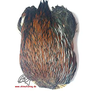 """Fliegenbinden Bindematerial """" Hen/ Cock Cape Natur """" Feder"""