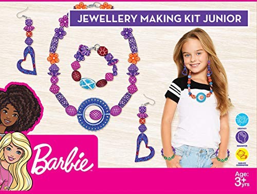 Ratna's Barbie Jewellery Making Kit Junior for Girls Make Necklace, Earrings, Bracelet for Girls DIY Kit