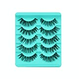 masrin 5 Pairs/Batch Cross False Eyelashes Eyelashes Wide hot Eyelashes (Black)