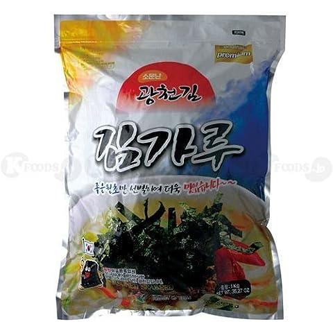 [0225] stagionato grattugiato alga nori Yan'nyomu Corea laver 1 sacchetto (1kg) coreano [merci di importazione parallela]