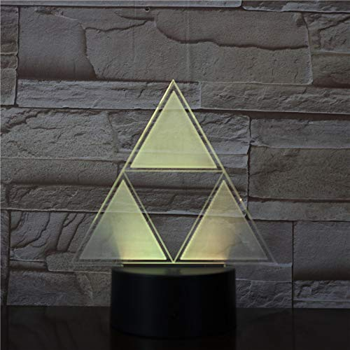 WoloShop Lampara LED The Legend of Zelda Triforce Cambia Color USB Luz Nocturna