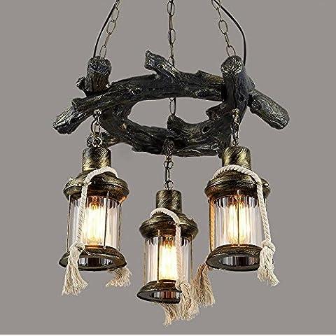 Metallo Vintage minimalista Creative 3RetroStyle luci lampadario