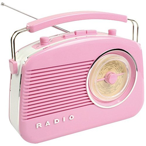 König HAV-TR710PI Retro-Design AM/FM-Radio pink (Retro Am / Fm Radio)