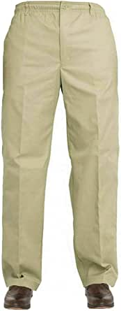 Gillicci Mens Elasticated Adjustable Waist Casual Smart Work Plain Rugby Trousers Pants