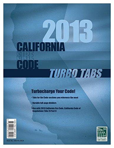 Turbo Tabs: 2013 CA Fire Codetitle 24 Part 9 (2013 Gebäude-codes)