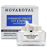 NOVAROYAL® Anti Aging Nachtcreme | sorgt für intensive Faltenreduktion und Hautregeneration in der Nacht | mit dreifach prämiertem Kollagenbooster | reichhaltig und exzellent pflegend formuliert