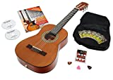 Calida Loretta Guitare de Concert 1/2 nature Starter Set