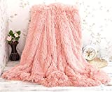 Super Doux Long Shaggy Throw Couverture Fausse Fourrure Chaud Élégant Confortable...
