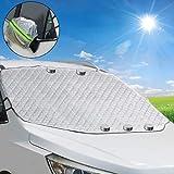 TBoonor - Copertura per Parabrezza Auto, Magnetica, Pieghevole, per Parabrezza, Protezione Solare, Protezione da Neve, Protezione antigelo, Protezione Contro Il Ghiaccio, Non graffia
