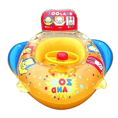 Vococal - Kinder Baby Aufblasbarer Float Boot Pool Schwimmen Ring - Tier Zoo-Muster Sitz Float Boot Stuhl Schwimmen Ring (Aufblasbare Zoo Tiere)