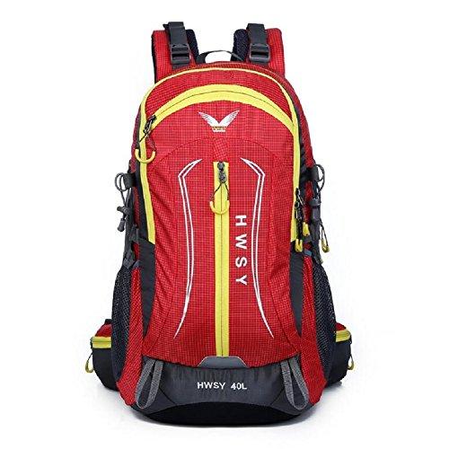 LJ&L Outdoor Bergsteigen Tasche, 36-55 Liter große Kapazität wasserdicht Wanderrucksack, Spleißen Farbe, Nylon praktisch tragbaren Rucksack B