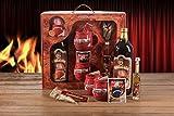 Feuerzangentasse Geschenkset Wurzelholz-Design Feuerzangenbowle rot Apres Ski