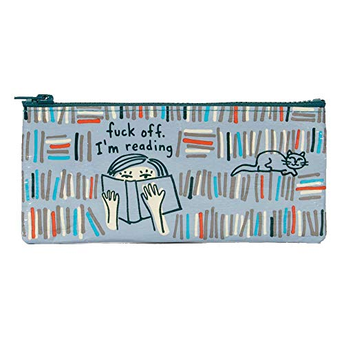 Blue Q Pencil Case, Fuck Off I\'m Reading, Made Out of 95{b24464643355858039e7c234d6ce1f8fe1515fda02df7e9def2fd09c46af06a6} Recycled Materials, 4.25 by 8.5 Inches (QA761)