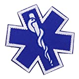 IPOTCH Applikation Aufnäher Medical Paramedic Star of Life Patches Dekoration