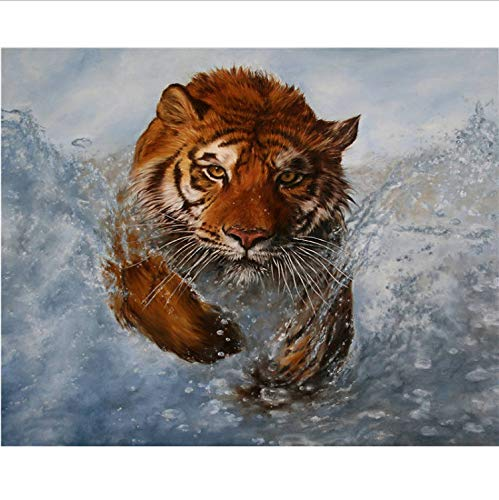 Pintura Diamante 5D Cuadro Del Tigre Bordado Punto