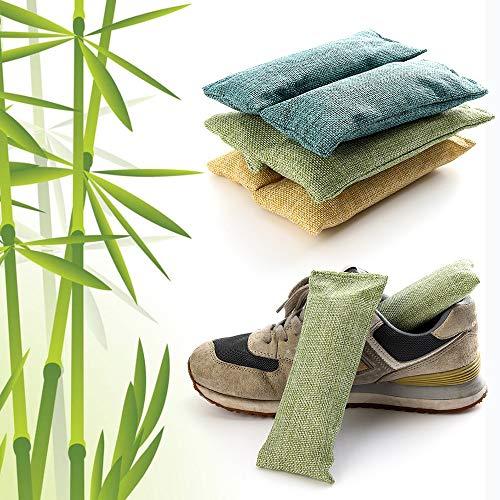 XUBF-DE, 2ST / Pack Bambuskohle Tasche Smelly Aktivkohle Schränke Schuhdeo desodorieren trocknendes Absorber Luftreinigungs Entfernen