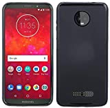 cofi1453 Silikon Hülle Tasche Case Zubehör für Motorola Moto Z3 Play Gummi Bumper Schale Schutzhülle Zubehör in Schwarz