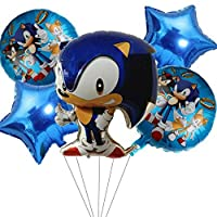 ‏‪5 pcs Party Balloons for Sonic the Hedgehog, Sonic the Hedgehog Party Supplies, Kids Baby Shower Birthday Party Decorations (STYLE 1)‬‏