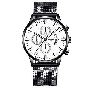 Bloodfin Classic Herren Quarzuhr – Militär Armbanduhr Analoge Edelstahl Quarzuhr ultradünne Uhren für Herren Männer Mann mit Legierung Armband Geschäft Uhr Armbanduhren Uhren Geschenk
