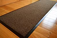Medium Extra Large Long Narrow Brown / Black Heavy Duty Strong Non Slip Heavy Duty Rug Barrier Mat Door Office Kitchen Utility Carpet from RUGS 4 HOME