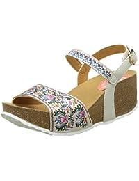 Desigual White Flowers, Heels Sandals para Mujer