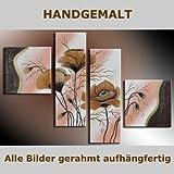 HANDGEMALT: 4 LEINWANDBILDER BILDER [MOHN 5] 100 x 70cm. Bilder auf Holzrahmen gespannt und und kann SOFORT aufgehangen werden!