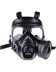 Máscara de airsoft de Foxom, protección de rostro completo, máscara táctica con respirador