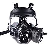 WEIZQ Airsoft Maske, M04 Airsoft Maske Gasmaske Lüfter für Cosplay Schutz Zombie Soldaten Halloween Masqürade Resident Evil Antivirus Schädel CS Mask