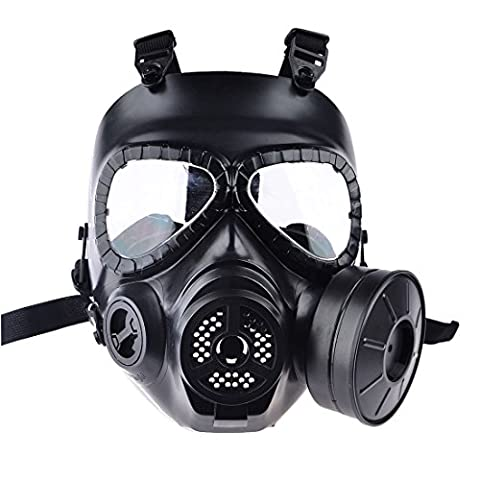 Airsoft Mask, Foxom Tactical Airsoft Full Face Protection Safety Mask - Paintball Dummy Gas Mask - Guard Toxic CS Gas