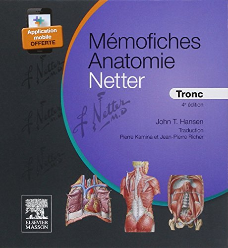 Mémofiches Anatomie Netter - Tronc (Hors collection) por John T. Hansen