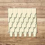 Bütic GmbH Sperrholz Schindeln - Rhönform - Größen- und Mengenauswahl, Schindelgröße:50mm x 25mm, Pack mit:250 Stück