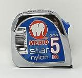 Medid MD/CL1519 Flexómetro con estuche de ABS cromado, 5 m x 19 mm