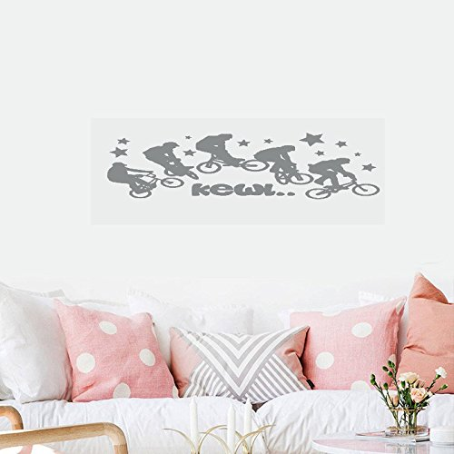 wandaufkleber 3d schlafzimmer 46 Dirt Bike Bicycle Jump Sequence Off Road Stunt Sports Boys Motocross Cool Kewl Wall Decal Sticker Art Mural Home D&Eacutecor Quote For Bedroom Living Room