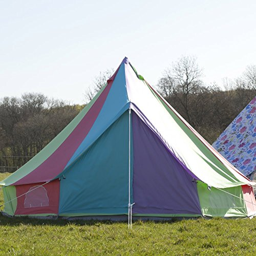51ldpFVmbRL. SS500  - Boutique Camping Rainbow Bell Tent With Zipped in Ground Sheet 6 Metre