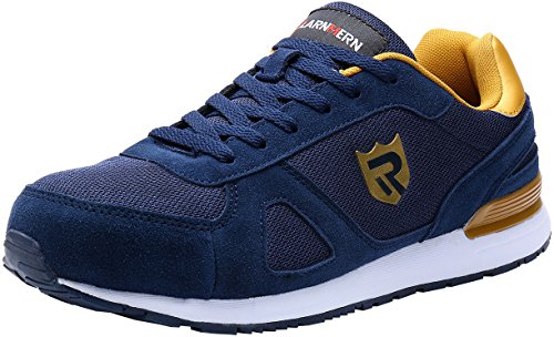 LARNMERN Scarpe Antinfortunistiche da Uomo, Punta in Acciaio Sneakers da Lavoro Leggere ed Eleganti LM-123k Blu Riflettente 42 EU