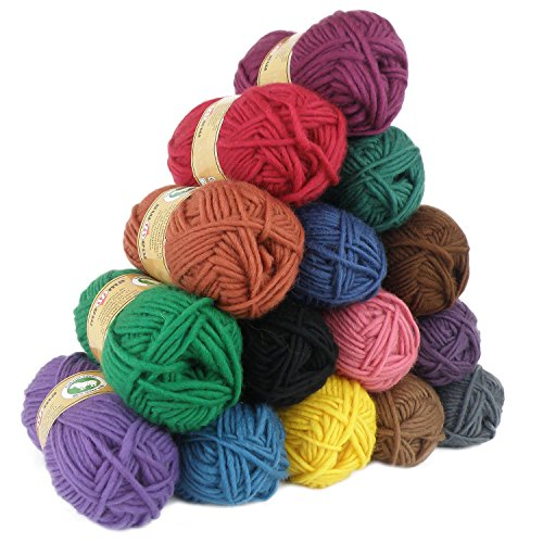 maDDma ® Wollpaket 15 x 50g Filzwolle Milly Twisted, Wolle Zum Strickfilzen