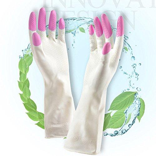 beauty360Handschuhe lang Sleeve Verwendung in Küche Reinigung Waschen Garten-Recycling rutschfest ohne Geruch Pack von 3Paar [32,5x 10,5cm]