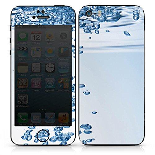 Apple iPhone 5s Case Skin Sticker aus Vinyl-Folie Aufkleber Wasser Blasen Blubber DesignSkins® glänzend