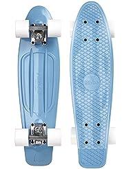 """Ridge Retro 70er Style Mini Cruiser Skateboard 22""""/55cm mit weissen Rollen"""