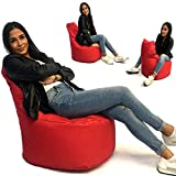Sitzsack Sessel - für Kinder und Erwachsene - In & Outdoor Sitzsäcke Kissen Sofa Hocker Sitzkissen Bodenkissen mit Styropor Füllung Bean Bag Sitzsäcke Möbel Kissen (Rot)