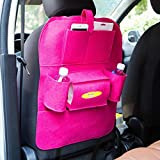 MALLOOM Malloom Car Auto Seat Back Multi-Pocket Hanger Storage Bag Organizer Holder Container (Hot Pink)