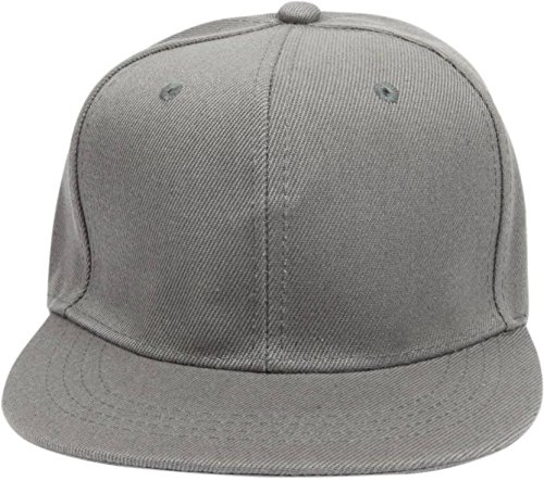 FAS Solid Grey Snapback And Hiphop Cap  available at amazon for Rs.275