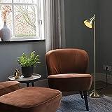QAZQA Landhaus/Vintage / Rustikal Stehleuchte/Stehlampe / Standleuchte/Lampe / Leuchte Tommy 1 Gold/Messing / Innenbeleuchtung/Wohnzimmer / Schlafzimmer/Küche Metall Länglich LED geeignet
