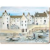 Creative Tops Lot de 4sets de table motif «Cornish Harbour» Envers en liège traditionnel