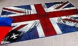 TrendLine Teppich Union Jack Rot Blau in 5 Größen