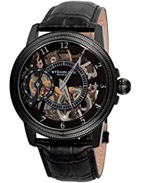 Stuhrling Original Symphony Brumalia Men's Mechanical Watch with Black Dial Analogue Display and Black Leather Strap 228.33551