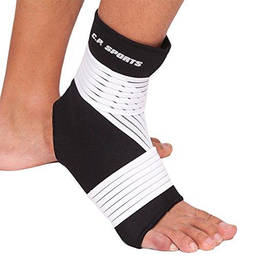 CP Sports Neopren-Fußgelenk-Bandage strong XL = 26cm - 29cm - Fuss-Bandage, Ankle Support, Gelenk-Stützbandage - Sport, Fitness & Alltag