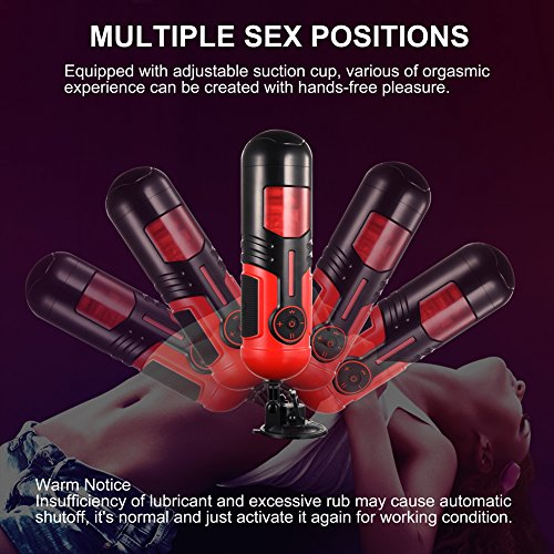 Utimi Vagina Cup Masturbatoren Pussy Oral Masturbator mit Vibration Vibro Muschi Handfrei Transformator für Männer - 9